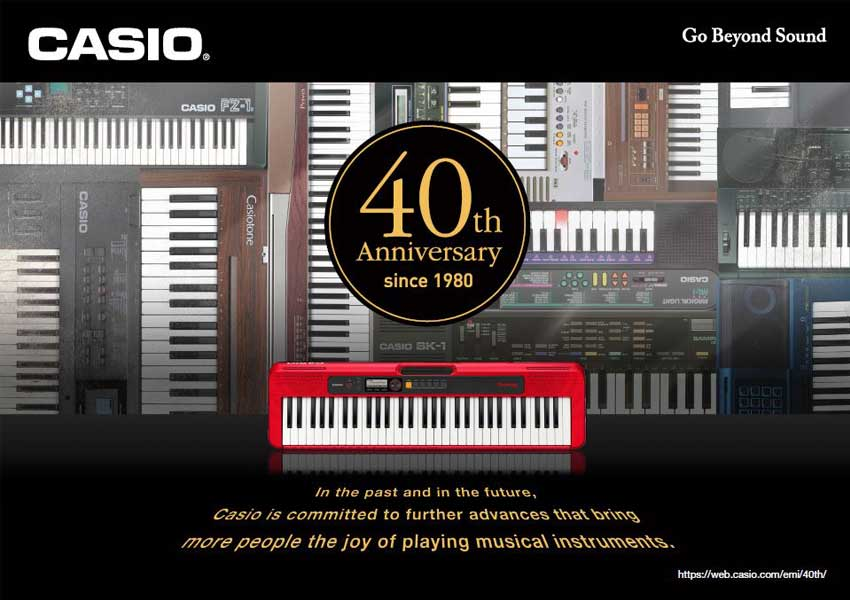 CASIO Celebrates 40th Anniversary of Electronic Musical Instruments